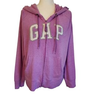 GAP Pinky Purple Hoodie Sweatshirt w/Drawstring Pockets & G A P Logo Women's XL